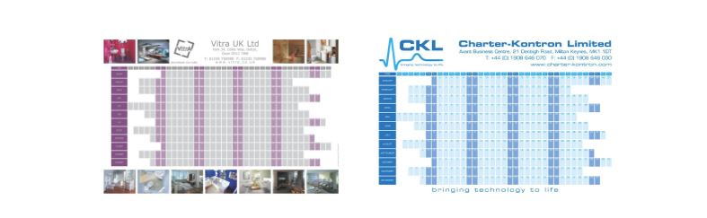 Custom wall planners Laser Media Supplies